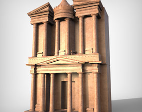 Petra Al Khazneh or The Treasury at Petra 3D