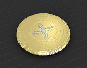 jesus coins Cross Medallion 3D print model