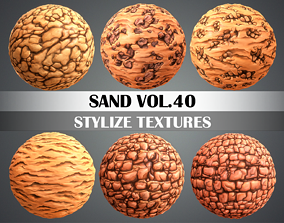 Stylized Sand Vol 40 - Hand Painted Texture Pack 3D model