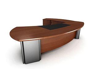 Executive Luxury Office Desk 3D