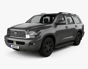 3D model Toyota Sequoia TRD Sport 2018