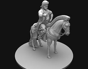Genghis Khan Equestrian Statue 3D Model