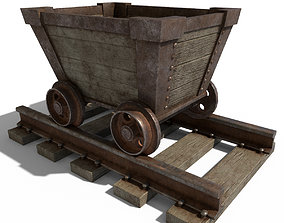 Cartoon Mine Cart 3D model low-poly