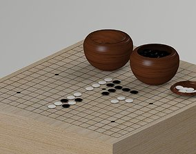 weiqi Go Game Table 3D model