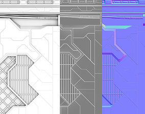 Trim Sheets Sci Fi 3D asset