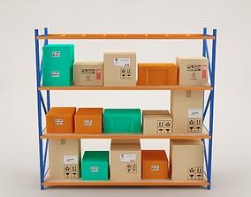 Warehouse Rack Storage 05 3D asset