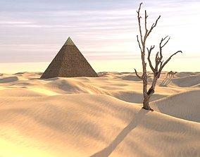 egypt sahara desert-modular 3D model low-poly