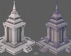 3D asset Pagoda V07