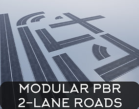 3D asset Modular Road Pack PBR
