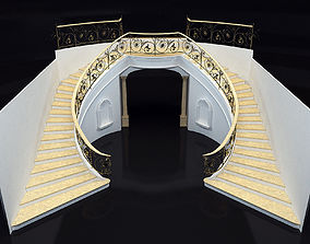 classical marble staircase 3D model