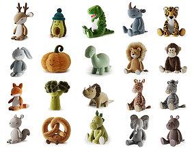 3D Plush Toys Collection parts 1-5