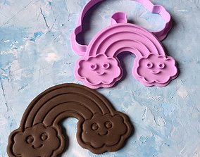 Rainbow cookie cutter stl file 3D print model cooky