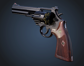 Smith and wesson 586 3D asset