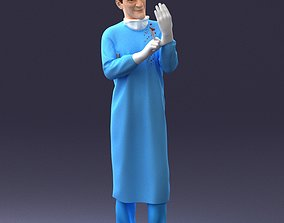 Male surgeon with a scalpel 200222 3D print model