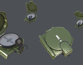 3D model Realistic Military Compass