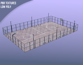 3D model realtime Street urban basketball court