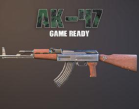 Ak-47 Game Ready 3D asset