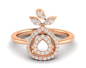engagement diamond-ring Women Ring 3dm stl render detail