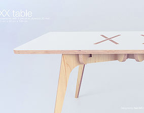 The XX Table 3D model