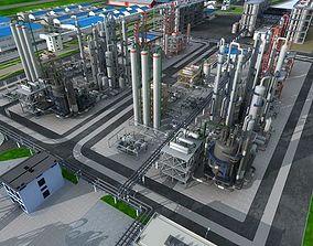 3D Chemical Factory Scene