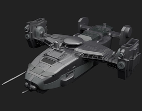 3D model low-poly SpaceShip