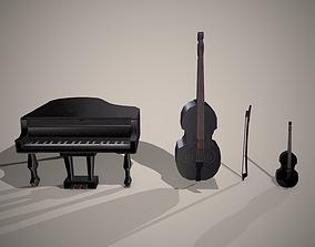 3D asset Musical instruments