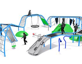 Playground Climber Challenge 3D asset