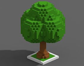 Tree Voxel - 3 3D asset VR / AR ready