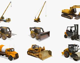 Construction Vehicles Pack 3 3D model