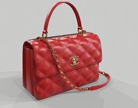 3D model Chanel Small Flap Bag With Top Handle Red