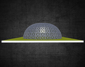 3D asset Dome structure flower of life panels