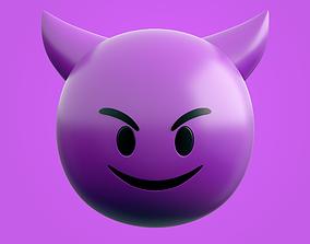 Emoji Devil 3D asset