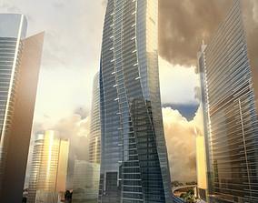 3D model Exotic Skyscraper Design