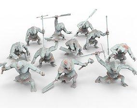 3D printable model Savage Cave Trolls - Spartatroll