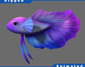 3D model Cartoon Fish05 Rigged