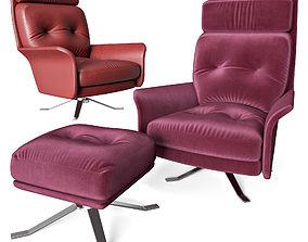 3D GLEN armchair and pouf
