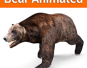 Brown Bear Rigged and animated 3D Model animated