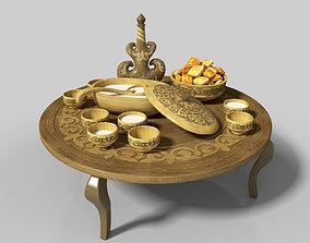 Kazakh national dishes for koumiss 3D model kazakh