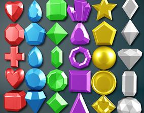Classic Gems Pack 3D asset