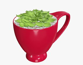 3D Plant in cup decorative