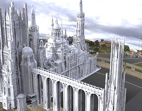 Fantasy epic royal place structure extended 3D model