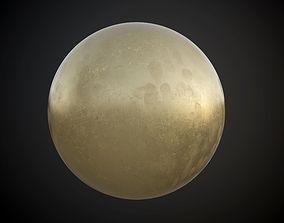 3D model Metal Brass Seamless PBR Texture Dirty