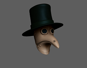 Plague Doctor - Hat and Mask 3D model