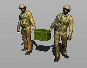 2 Russian soldiers carry ammunition 3D printable model