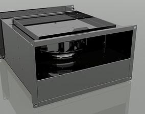 rectangular duct ventilation 3D