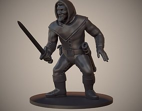 3D print model Human Swordsman Miniature 03