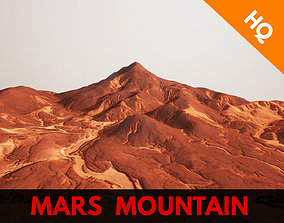 Mars Mountain Red Planet Terrain Landscape 3D model 2