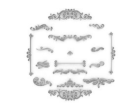 3D Ornate Swirls 03 Set