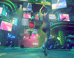 3D asset Cyber City Fp