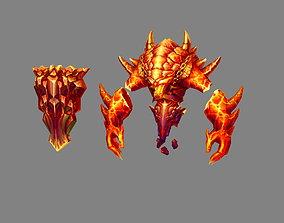3D model Cartoon summon monster - Flame Demon - Fire Demon